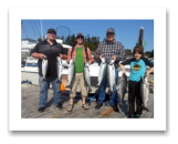 September 21, 2014 : Limit of Coho Salmon & a Feeder Spring Salmon - Muir Creek - Andrew, Ross, Adam, & Reece from Alberta