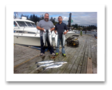 October 5, 2014 : Limit of Wild Coho & Hatchery Coho Salmon - Secretary Island - Day 2 of 2 - Big Al from Calgary with LiL Henry
