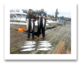 October 4, 2014 : Limit of Wild Coho & Hatchery Coho Salmon - Secretary Island - Day 1 of 2 - Big Al from Calgary with LiL Henry