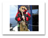 February 13, 2015 : 36 lbs. Halibut - Race Rocks - Laurie from Toronto