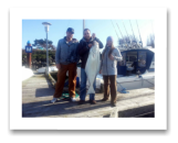 March 2, 2015 : 37 lbs. Halibut - Race Rocks - John, Mark, and Monika from Victoria BC