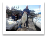 March 12, 2015 : 40 lbs. Halibut - Race Rocks - Dave from Victoria BC