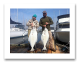 March 30, 2015 : 39 & 29 lbs. Halibut - Constance Bank - Brita & Bill from Victoria BC