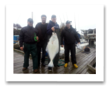 March 29, 2015 :26 lbs. Halibut - Sydney Channel - Todd, Jeff, & Alex - BC Sports Fishing Members