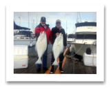 April 1, 2015 :29 & 23 lbs. Halibut - Constance Bank - Rick & Frank from Victoria BC