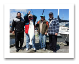 April 25, 2015 : 32 lbs. Halibut - Clover Point - Uncle Joe, Bob, Jerry, & Roger from Parksville BC