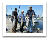 May 24, 2015 : 6 to 11 lbs. Chinook Salmon - Oak Bay - Irmela, Dave, & Dick from Victoria BC & Seattle WA