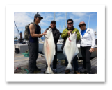 May 26, 2015 : 71 & 30 lbs. Halibut - Race Rocks Day 1 of 2 - Khim, Thomas, Nevin, & Susan from Vancouver BC