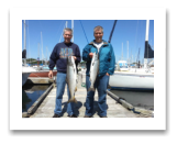 May 30, 2015 : 15 & 10 lbs. Chinook Salmon - Oak Bay - Rob from Ontario with Chris from Victoria BC