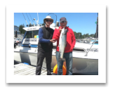 June 9, 2015 : 13 lbs. Chinook Salmon - Constance Bank - Paul & Dave from Powell Butte Oregon