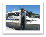 June 16, 2015 : 15 & 10 lbs. Chinook Salmon - Trap Shack - Dave from Victoria BC