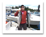 June 25, 2015 : 14 & 12 lbs. Chinook Salmon - Trap Shack - Jim from Victoria BC