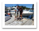 June 26, 2015 : 15 & 14 lbs. Chinook Salmon, Coho & Pink Salmon - Trap Shack - Wendy & Ray from Victoria BC