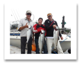 June 28, 2015 : 20 & 16 lbs. Chinook Salmon & Pink Salmon - Trap Shack - Laura, Frank, & Bill from Calgary and Victoria BC