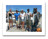 June 27, 2015 : 15, 12, 12, 11, 10, 9 lbs. Chinook Salmon & Pink Salmon - Trap Shack - Scott, Laura, Clayton, Stephanie, & Curtis from Victoria BC