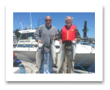June 30, 2015 : 20, 18, & 12 lbs. Chinook Salmon & Pink Salmon - Sheringham PT - Doc & Paul Taylor from Victoria BC