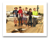 July 5, 2015 : 15, 14, 12 lbs. Chinook Salmon & Limit of Pink Salmon - Sheringham PT - Debbie, Zoltan, Alex, Ben, & Sam from Boston MA
