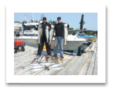 July 9, 2015 : 21, 15, 14, 12 lbs. Chinook Salmon, Coho Salmon & Limit of Pink Salmon - Sheringham PT - Ben from Alabama with Todd from Victoria BC
