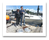 July 13, 2015 : 19 lbs. Chinook Salmon & Limit of Pink Salmon - Muir Creek - Tracy from Calgary with Donna from Australia