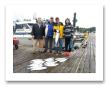 "July 24, 2015 : 14 & 9 lbs. Chinook Salmon & Limit of Coho & Pink Salmon - Muir Creek - Tyler, Mike, & Larry from Sooke with Paul ""Little Fish"" from Calgary Alberta"