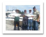 August 2, 2015 : 24.8 & 15 lbs. Chinook Salmon - Otter Point - Day 2 of 2 Sooke Enhancement Derby - Richard with 1st place for Seniors and Lionel has 11th place with tall Chris & little Chris