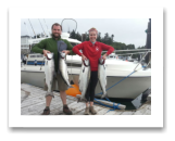 August 5, 2015 : 19, 15, 14, 12 lbs. Chinook Salmon & Limit of Pink Salmon - Otter Point - Kate & Dennis from Seattle Washington