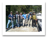 August 7, 2015 : 16, 16, 15, 13, 10 lbs. Chinook Salmon, Coho & Pink Salmon - Otter Point - Day 1 of 2 - Singer Valve Group from Vancouver BC