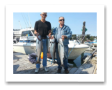 August 10, 2015 : 16, 15, 12 lbs. Chinook Salmon & Pink Salmon - Otter Point - Neil & Roger from Victoria BC