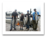 August 14, 2015 : 15, 14, 14, 13, 12, 12 lbs. Chinook Salmon - Otter Point - Andrew Paine founder of the Sand Lance Andrew P Spoon with good friends Dave, Rico, & Antonio from Victoria BC