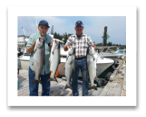 August 12, 2015 : 16, 15, 15, 14 lbs. Chinook Salmon - Otter Point - Day 2 of 2 - Dick & Chuck from Washington State