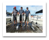 August 17, 2015 : 19, 17, 17, 16, 15, 15, 14, 14 lbs. Chinook Salmon - Otter Point - Day 1 of 2 - Steve from Surrey BC with Dan & Trevor from Swift Current Saskatchewan