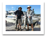 August 20, 2015 : 25, 21, 12 lbs. Chinook Salmon  - Day 1 of 2 - Otter Point - William & Peter from Alberta