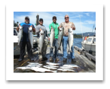 August 23, 2015 : 17 to 12 lbs. Chinook Salmon & Limit of Coho & Pink Salmon - Day 1 of 3 - Otter Point - Big Al, Dave, & Cory from Calgary Alberta with Joey from Kelowna BC