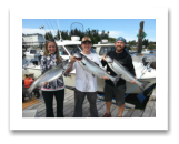 August 27, 2015 : 17, 15, 13 lbs. Chinook Salmon - Muir Creek - Good friend Rob & new wife Christine with Mark from Victoria BC