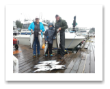 August 31, 2015 : 16, 15, 15, 12 lbs. Chinook Salmon, Limit of Choho & Pink Salmon - Otter Point - Andre, Chantell, & Mason Draayer from Alberta