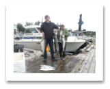 September 1, 2015 : 24, 17, 10 lbs. Chinook Salmon - Otter Point - Maggie & Eric from Florida