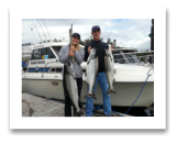 September 2, 2015 : 25, 20, 15 lbs. Chinook Salmon - Otter Point - Cathy & Mike from Missouri