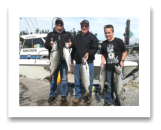 September 13, 2015 : 18, 16, 15, 12, 9 lbs. Chinook Salmon - Otter Point - Aaron, Rich, & Dawson from Alberta and Sooke BC