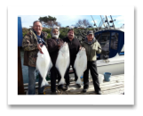 March 6, 2016 : 26, 21, 15 lbs. Halibut - Albert Head - Ross, Harry, Daryl, & Philip from Vancouver BC