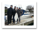 March 19, 2016 : 32 lbs. Halibut - Albert Head - Jason, Jacky, Ricky, & Raymond from Vancouver BC