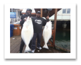 April 3, 2016 : 50 & 32 lbs. Halibut - Race Rocks - Lance Sr & Jr from Vancouver BC