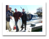 April 1, 2016 : 35 & 17 lbs. Halibut - Race Rocks - The Kostyk family from Mill Bay