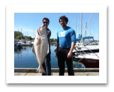 April 30, 2016 : 51 lbs. Halibut - Race Rocks - Marlow & John from Victoria BC