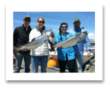 June 16, 2016 : 13, 12 lbs. Chinook Salmon - Sheringham Point - Lauren, Ryan, Hillery, & Carlin from Louisiana