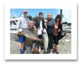 June 20, 2016 : 21, 14 lbs. Chinook Salmon - Sheringham Point - The Kelly Family from California