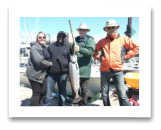 July 6, 2016 : 17 lbs. Chinook Salmon - Otter Point - Ian from United Kingdom with Bob, Pamela, & Leon from Victoria BC