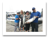 July 16, 2016 : 20.5, 11.9, & 8.9 lbs. Chinook Salmon - Otter Point - Yasemin Parkinson, Alfred Louie, Olivia Palomino, & Rose Sinnott in the Consultants Derby