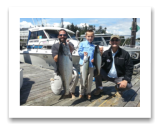 July 17, 2016 : 22 lbs. Chinook Salmon & Feeder Springs - Otter Point - Charlie & Jared from Houston Texas with Papa Mike from New Orleans