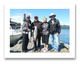 July 23, 2016 : 16 & 9 lbs. Chinook Salmon - Sheringham Point - Day 1 of 2 - Cheryl & Pete from Saskatchewan with Lorna & Randy from Alberta