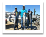 July 27, 2016 : 16, 15, 13 lbs. Chinook Salmon - Otter Point - Day 1 of 2 - Alan, Adam, & Blaine from Saskatchewan